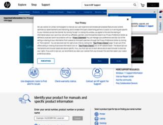 support.hp.com screenshot
