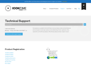 support.icontime.com screenshot
