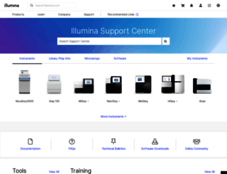 support.illumina.com screenshot