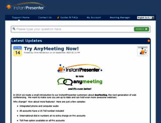 support.instantpresenter.com screenshot