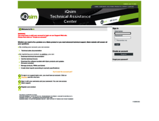 support.iqsim.com screenshot