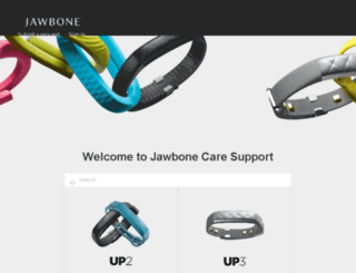 support.jawbone.com screenshot