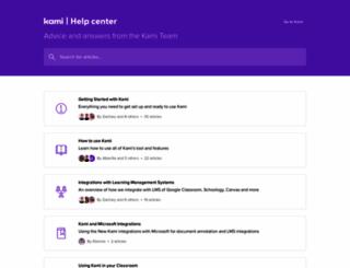 support.kamihq.com screenshot
