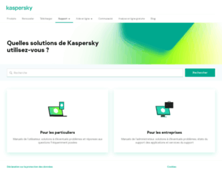 support.kaspersky.fr screenshot