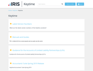 support.keytime.co.uk screenshot