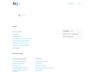 support.kigo.net screenshot