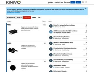 support.kinivo.com screenshot