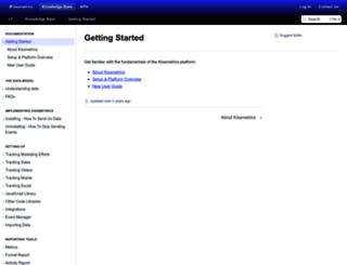 support.kissmetrics.com screenshot