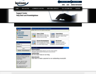support.lexiconn.com screenshot