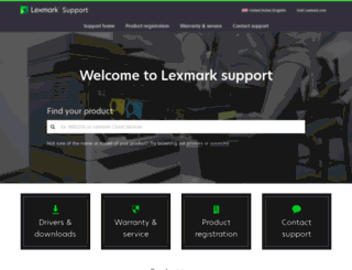 support.lexmark.com screenshot