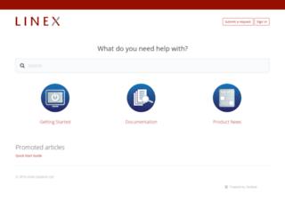 support.linexsystems.com screenshot