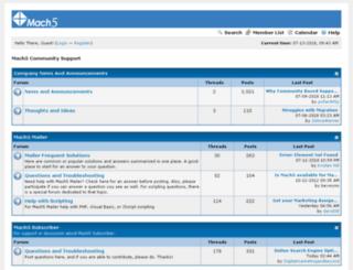 support.mach5.com screenshot