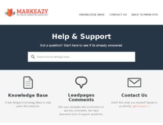 support.markeazy.com screenshot