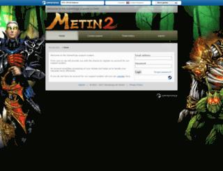support.metin2.com.mx screenshot