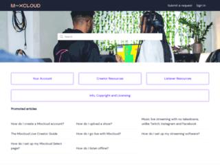 support.mixcloud.com screenshot