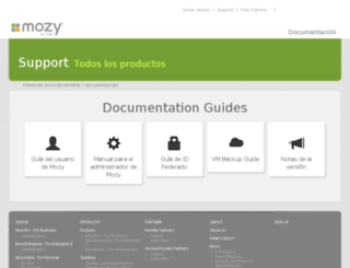 support.mozy.es screenshot