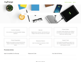 support.mycharge.com screenshot