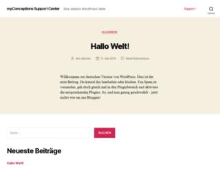 support.myconceptions.de screenshot