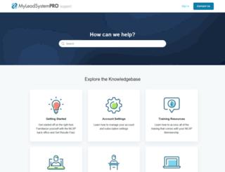 support.myleadsystempro.com screenshot