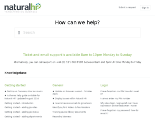support.naturalhr.com screenshot