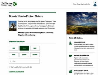 support.nature.org screenshot