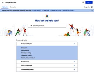 support.nest.com screenshot