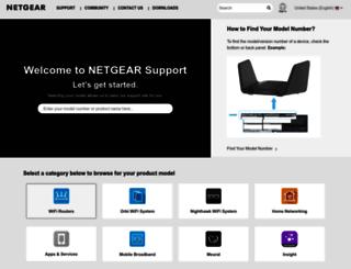 support.netgear.com screenshot