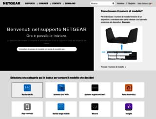 support.netgear.it screenshot