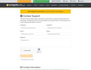 support.nettigritty.com screenshot