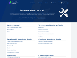 support.newsletterstudio.org screenshot