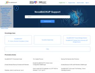 support.novastor.com screenshot
