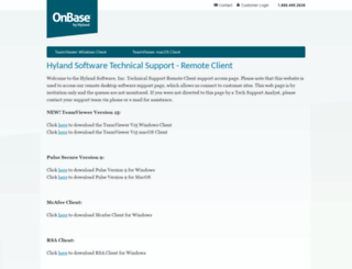 support.onbase.com screenshot