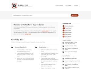 support.onepress-media.com screenshot