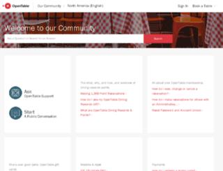 support.opentable.com screenshot