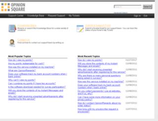 support.opinionsquare.com screenshot