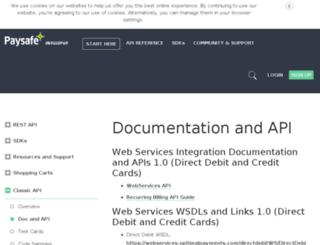 support.optimalpayments.com screenshot