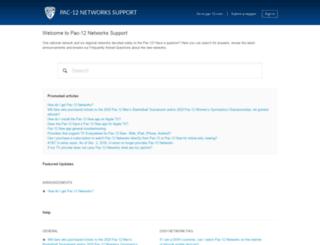support.pac-12.com screenshot