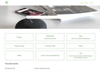 support.paperlit.com screenshot