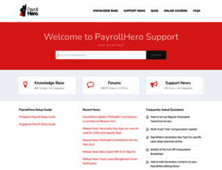support.payrollhero.com screenshot
