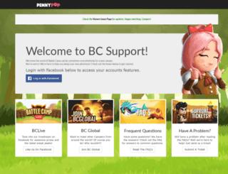 support.pennypop.com screenshot
