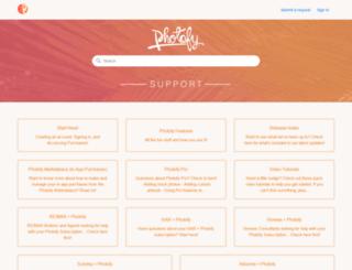 support.photofy.com screenshot