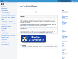 support.phpfox.com screenshot