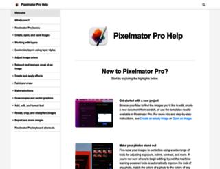 support.pixelmator.com screenshot