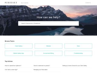 support.pixieset.com screenshot