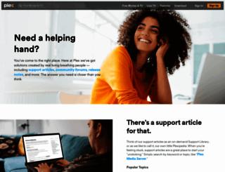 support.plex.tv screenshot