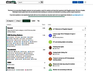 support.plugable.com screenshot