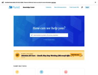 support.plunet.de screenshot