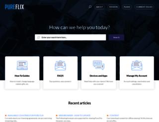 support.pureflix.com screenshot