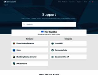 support.reincubate.com screenshot