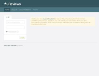 support.reviewsforjoomla.com screenshot